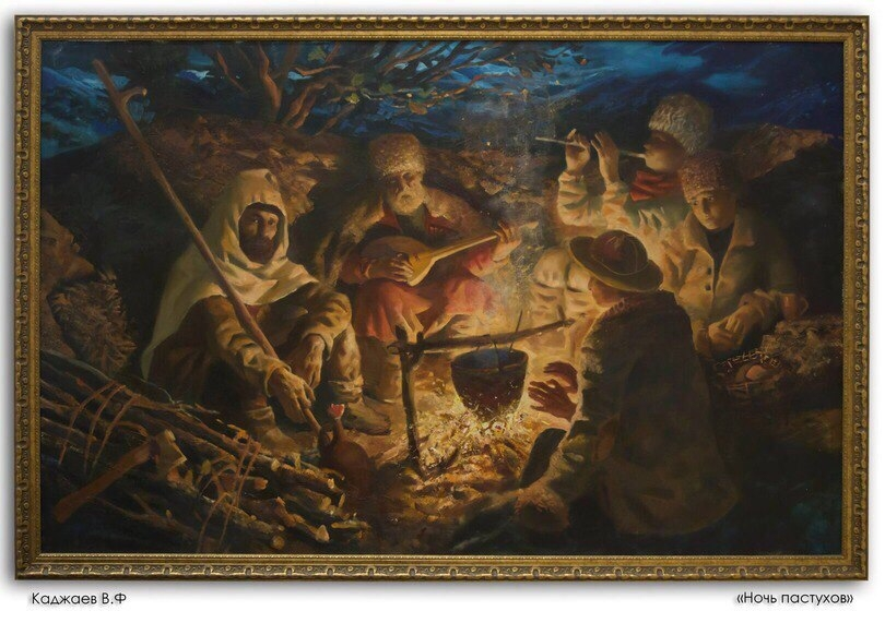 Картины осетинского художника Вадима Каджаева.
