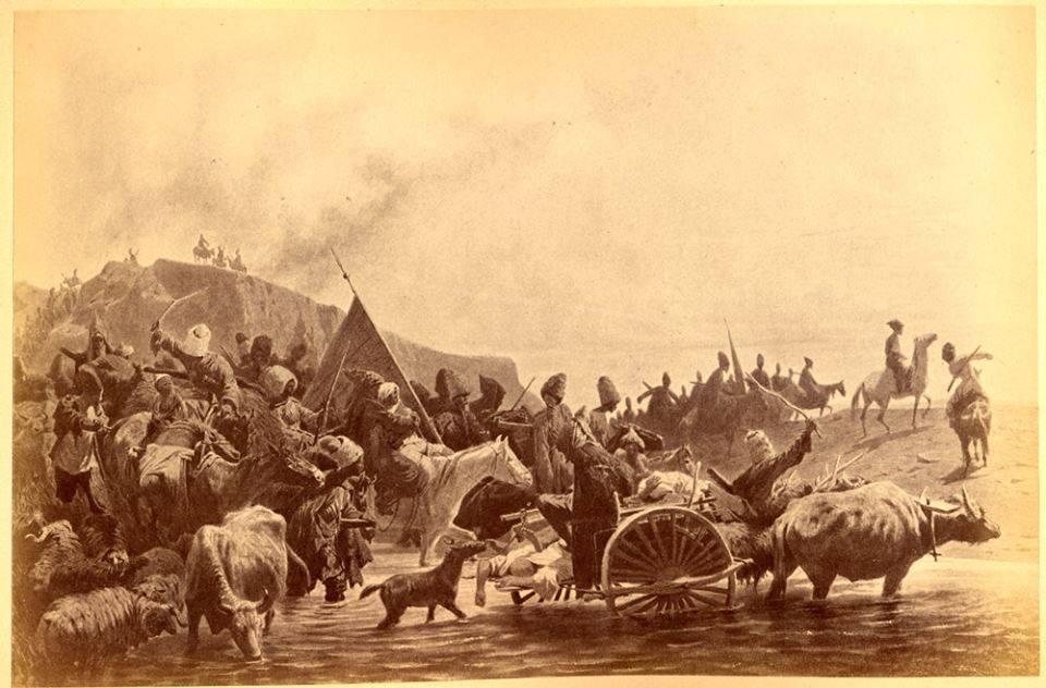 Казаки, возвращающиеся с пленными после набега.