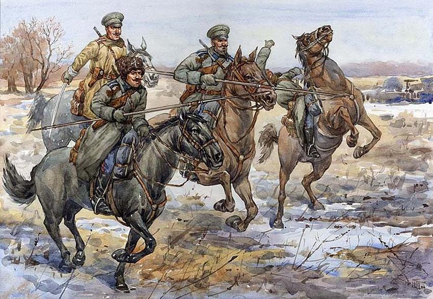 Казаки как причина Гражданской войны в России.