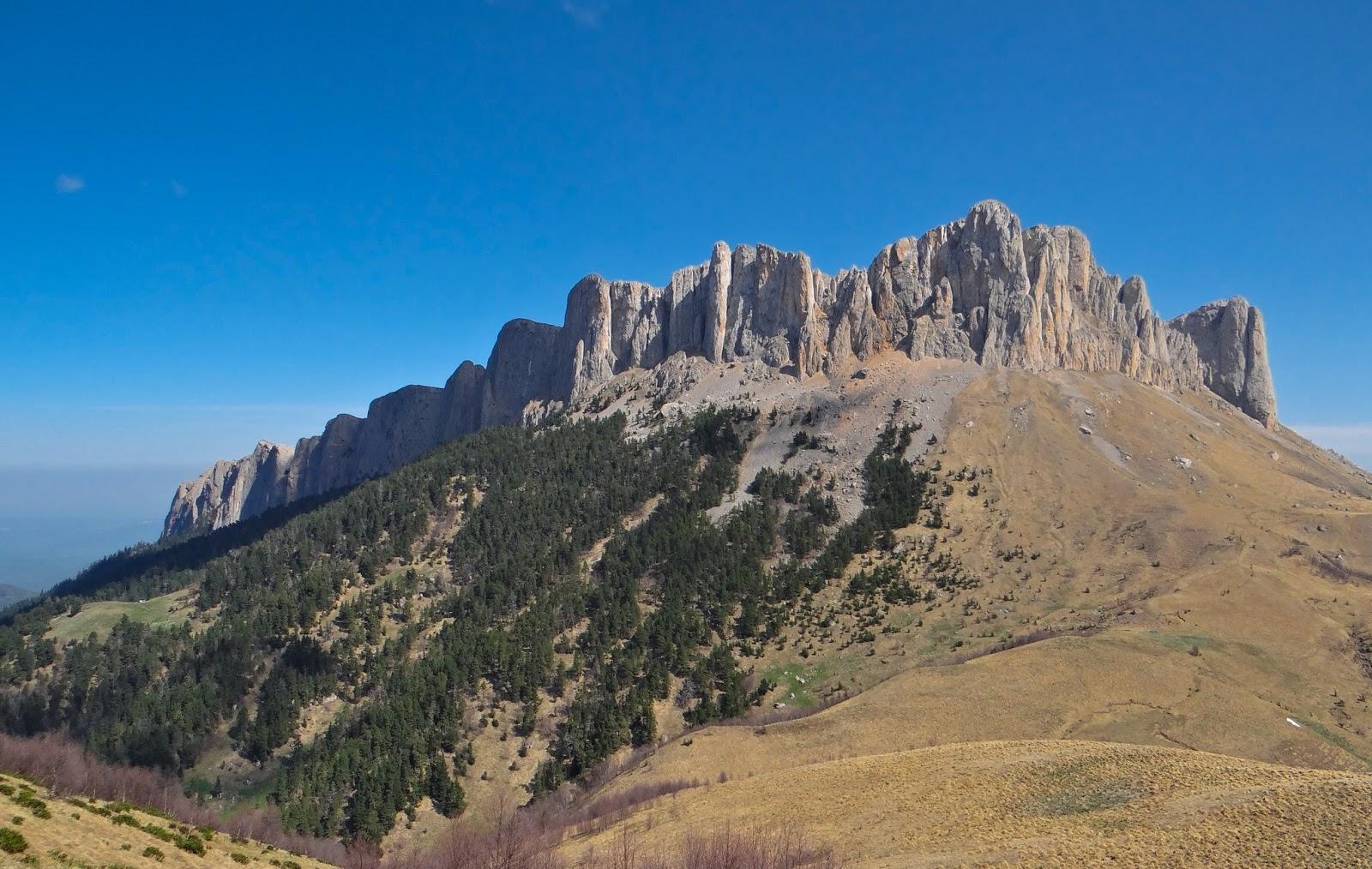 Гора на Кавказе, бывшая дном океана