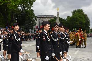Парад в честь Дня Победы в Краснодаре