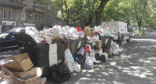 Активисты в Ереване потребовали срочно решить проблему вывоза мусора
