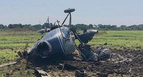 Пилот госпитализирован после падения вертолета в Адыгее