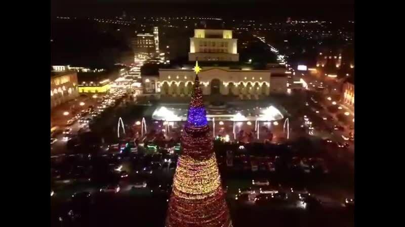 Видео; Поздравление Никола Пашиняна с новым годом из Республиканской площади...