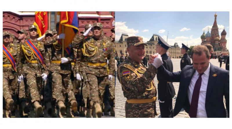 Армянский контингент принял участие в Параде Победы в Москве (видео)