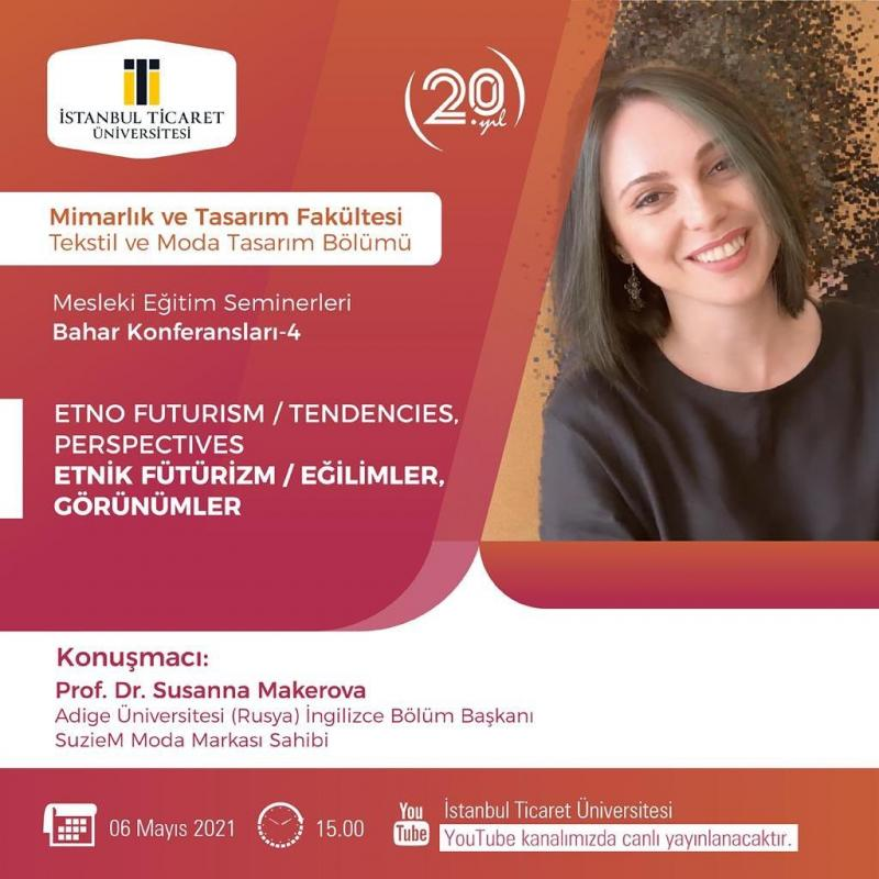 Профессор Адыгейского госуниверситета 6 мая выступит с лекцией на видео конференции Стамбульского университета «Global Fashion/ history&Perspectives»
