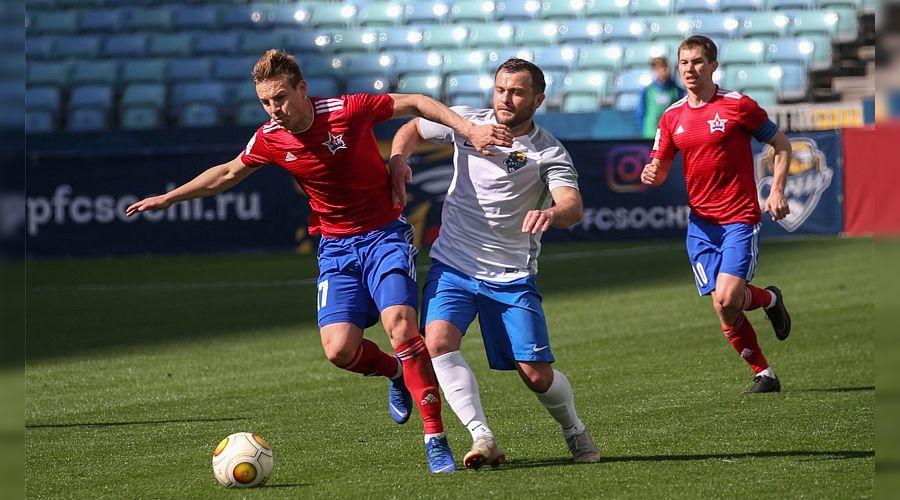 Футболисты «Сочи» на стадионе «Фишт» обыграли «СКА-Хабаровск»